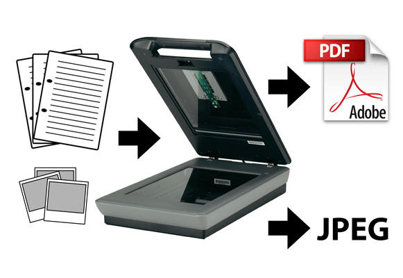 Scanning of documents and photos into digital format for archival purposes